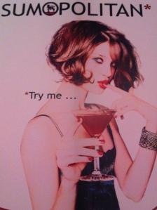 Sumopolitan cocktail